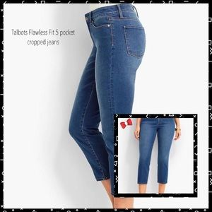 Talbots Flawless Fit 5 Pocket Cropped Jeans